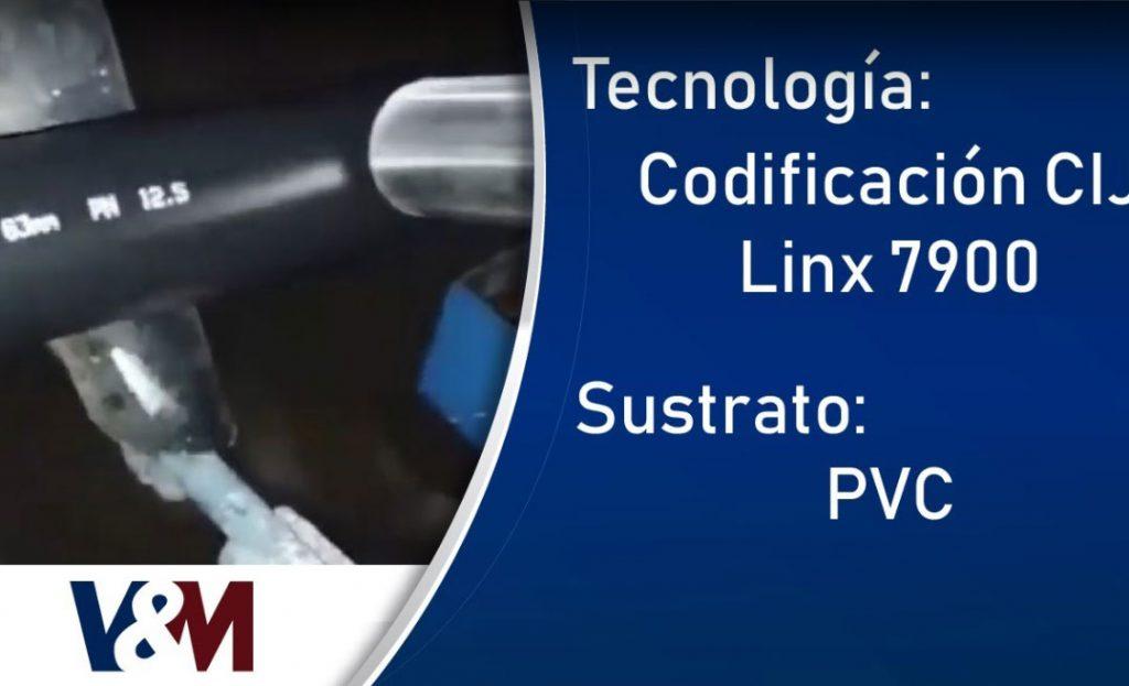 Codificación CIJ Linx 7900 con tinta blanca en tubos