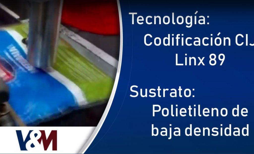 Codificación CIJ Linx 8920 en bolsas de polietileno de baja densidad (LDPE)