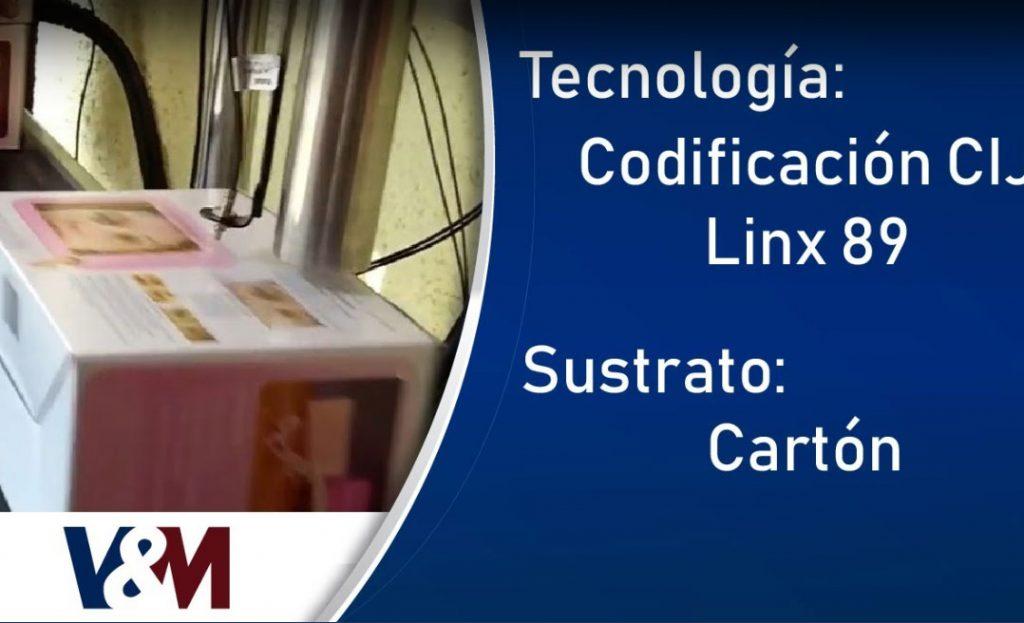 Codificación CIJ Linx 8920 en cajas