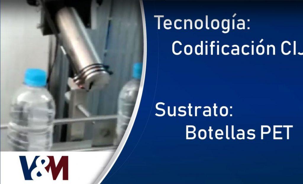 Codificación CIJ Linx en botellas de Tereftalato de Polietileno (PET) para agua