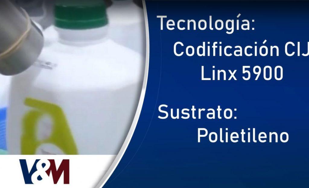 Codificación CIJ Linx sobre envases de PE (Polietileno) en lácteos