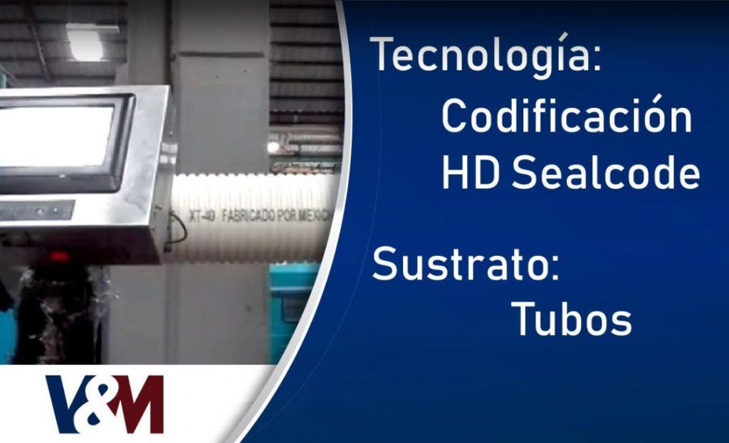 Codificación HD Sealcode en tubos