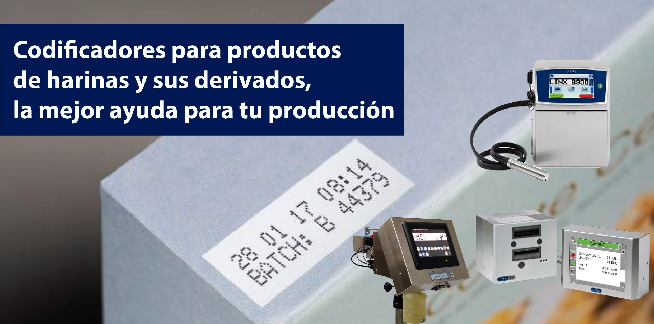 codificadores para productos de harinas