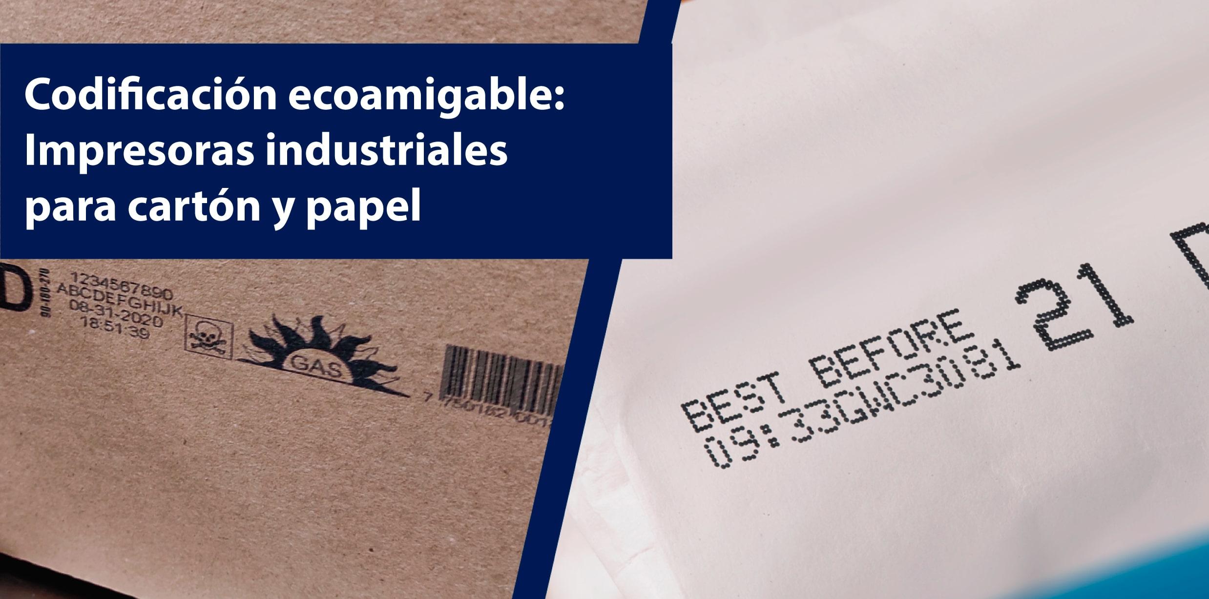 impresoras industriales para carton y papel