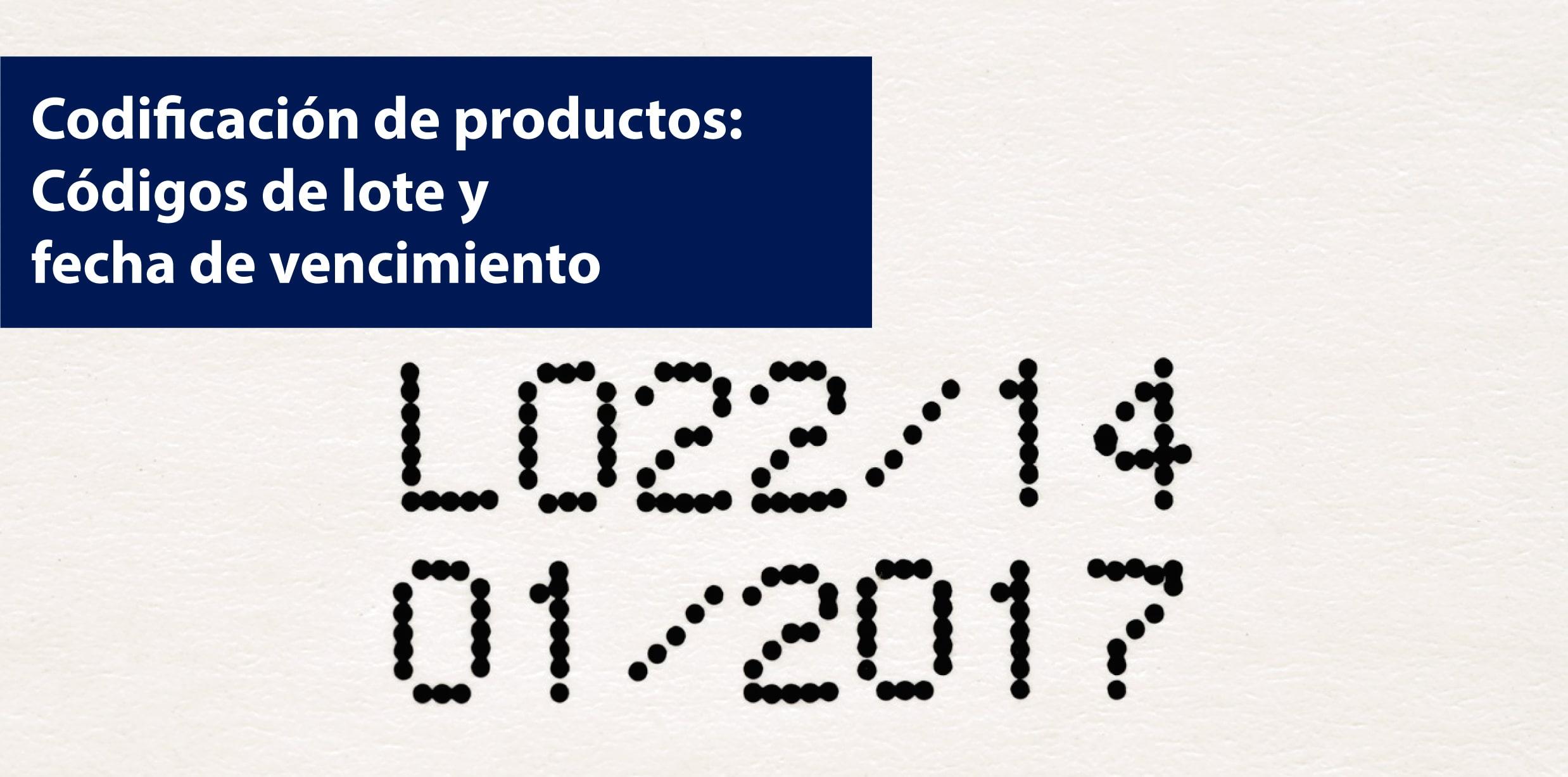 codificación de fecha y lote